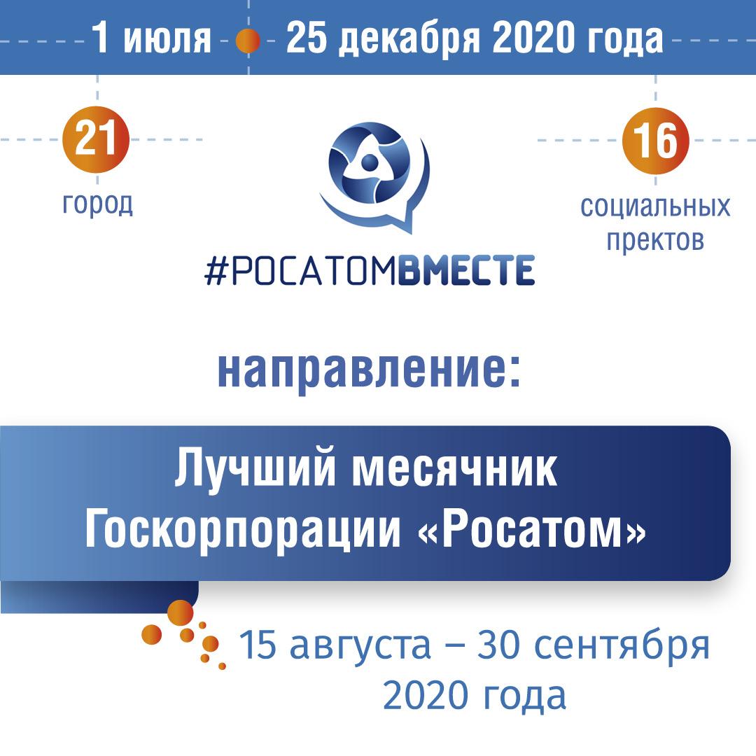 ЛУЧШИЙ МЕСЯЧНИК Госкорпорации «Росатом»: опубликованы итоговые видео городов!